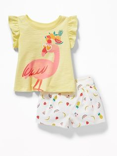 Shop Old Navy for cute outfits and clothing sets for your baby girl. Old Navy is your one-stop shop for stylish and comfortable baby clothes at affordable prices. Little Girl Outfits, Toddler Girl Outfits, Cute Little Girls, Kids Outfits, Newborn Girl Dresses, Baby Dress, Carters Baby Clothes, Kids Nightwear, Kids Clothes Sale