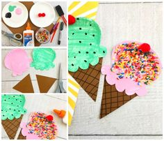 Paper Plate Ice Cream Craft for Kids to Make