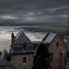 Stormy Sea, Mont Saint Michel, France  photo via cathy