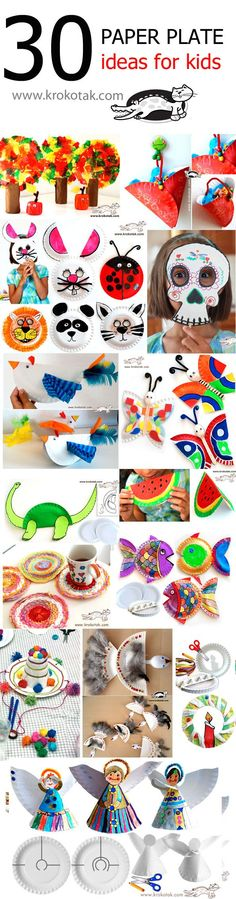 PAPER PLATE Ideas for kids by krokotak.com