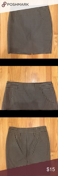 The Limited polkadot skirt Beautiful chocolate and cream skirt. Fully lined, kick pleat, worn but no signs of wear. Classic, sharp, perfect work skirt! The Limited Skirts