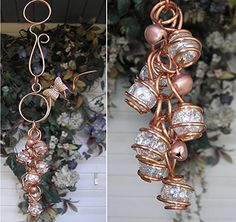 Butterfly Wind Chimes Glass Copper Garden Art Lawn Ornament Windchime Clear * Detailed information can be found by clicking on the VISIT button