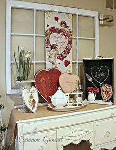 Vintage Valentine Decor