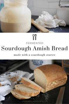 Sourdough bread is a such a classic. The long rise allows for breakdown of gluten and makes the finished product taste and smell delicious, while being much more bioavailable than modern breads made with isolated yeast. Here's one of my favorite recipe. Amish Sourdough Bread Recipe, Amish Bread Recipes, Amish Bread Starter, Sourdough Bread Starter, Fermented Bread, Fermented Foods, Homemade Desserts, Homemade Food, How To Make Bread