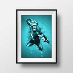 Digital Download Captain America Abstract by dotsonthewall on Etsy