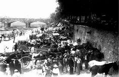 1910s. Todos los jueves en el cauce del río se celebra el mercado de caballerías. FOTO LAS PROVINCIAS Where To Go, Trip Planning, Spain, Nostalgia, Photography, Travel, Valencia Spain, Fiestas, Old Pictures