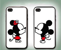 Personalized Love Couple Mouse PHONE Case 2 Rubber Cases For iPhone 7 Samsung S8 #UnbrandedGeneric