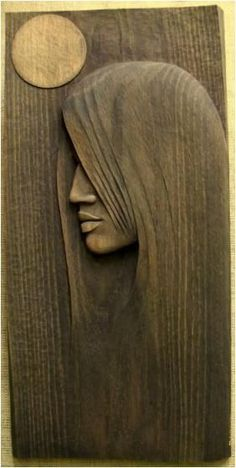 Woman Sculpture - Full Moon by Mieczyslaw Wojtkowski Wood Carving Patterns, Wood Carving Art, Carving Designs, Wood Carvings, Art Sculpture En Bois, Driftwood Art, Wooden Art, Wood Working For Beginners, Whittling