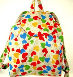 Hearts Backpack- Stylish Backpack- iPod Backpack - Tablet Βags - School Backpacks For Girls – Beach Backpack- Special Valentine's Day Gift.