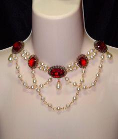 Lady Sophie Red Swarovski Renaissance Necklace