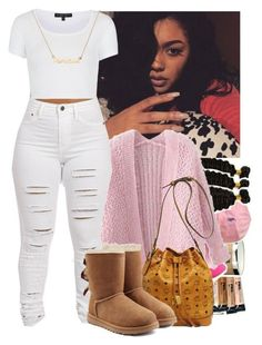 """""""1.18.16"""" by heavensincere ❤ liked on Polyvore featuring Chicnova Fashion, MCM, Topshop and UGG Australia"""