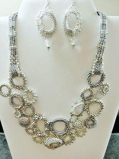 Helen Fountain Beadweaver: SILVER ON SILVER..... This freeform neckpiece of ...