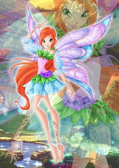 Bloom Livix Fairy by on DeviantArt Dessin Animé Lolirock, Les Winx, Bloom Winx Club, Club Design, Arte Disney, Character Design Animation, Cartoon Pics, Magical Girl, Cute Art