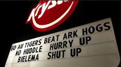 Krystal restaurant tells Arkansas coach Bret Bielema to 'Shut Up' (Photo) | Dr. Saturday - Yahoo Sports