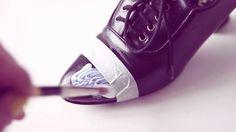 DIY sparkle  glitter shoes