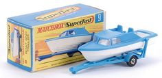 Matchbox Superfast MB9-d Boat and trailer