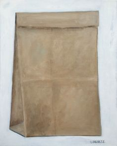 Brown Bag, 24x30 Acrylic & Charcoal Pencil on Canvas 2015 Gabe Langholtz