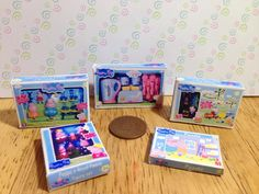 A personal favourite from my Etsy shop https://www.etsy.com/uk/listing/220832725/dolls-house-set-of-5-peppa-pig-boxed