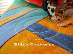 The Quilting Edge: How to Quilt a Spiral with a Walking Foot