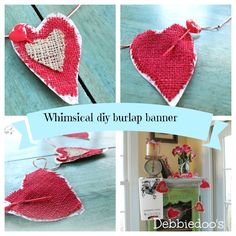 Diy #valentine burlap banner with a splash of whimsy