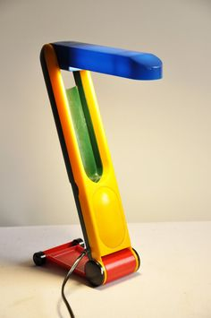 Funky Desk Lamp mr coe's concept for a revolving/adjustable arm task light. turned