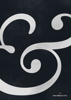 Baskerville ampersand (my favourite punctuation/ typographic character) // Designer // #theslashies