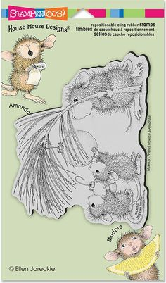 Stampendous - Cling Stamp - House Mouse - Deck the Halls So sweet