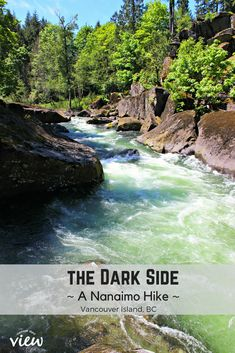There is an epic hike in South Nanaimo called the Dark Side, and it's full of interest and beauty. If you are on Vancouver Island, and anywhere near the area of Nanaimo, I highly recommend this hike! Places To Travel, Places To See, Travel Destinations, Dark Places, Travel Deals, Columbia Outdoor, Canadian Travel, Philippines Travel, Camping World