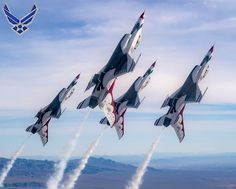 The Thunderbirds Diamond formation pilots transition during a Line Break Loop maneuver over the Nevada Test and Training Range during a training flight. The Diamond formation exhibits the precision and skill to fly in close formation. Us Military Aircraft, Military Jets, Fighter Aircraft, Fighter Jets, Diamond Formation, F 16 Falcon, Aircraft Painting, Fear Of Flying, Military Pictures