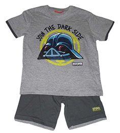 Boys Juego de camiseta de manga corta y pantalones cortos Conjunto 2Piezas oficial de Star Wars Angry Birds Gris #camiseta #realidadaumentada #ideas #regalo