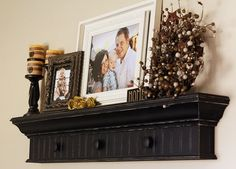 i love this shelf...and the repainted frame