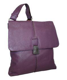 Look at this #zulilyfind! Grape Cross Town Girl Leather Crossbody Bag by Nino Bossi Handbags #zulilyfinds