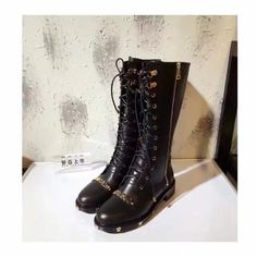 2017 Winter Women  Chains Shoes M Brand Boots knee High Boots Sexy Thigh High  Black Boost Fashion Woman Long Motocycle Boots