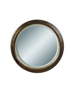 Atelier miroir rond avec cadre en bois miroirs d cor for Miroir bouclair