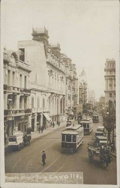 Lavalle, Buenos Aires  1920 Vintage Architecture, Street View, Plaza, Painting, Argentina, Old Photography, Antique Photos, Palaces, Countries