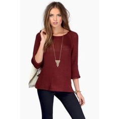 TOBI Loosely Knit Sweater - Burgundy Worn once. Still in excellent condition. No holes or loose stitching. Tobi Tops