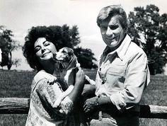 Elizabeth Taylor and husband, Senator John Warner, Middleburg, Virginia, (1978)