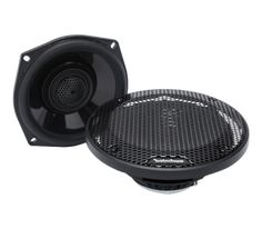 Power 5.25″ Full Range Tour-Pak Speakers '98-'13 Harley-Davidson®  The TMS5 is a full range coaxial speaker designed to fit the Tour-Pak speaker locations of the 1998 – 2013 model year Harley-Davison® Motorcycles. It features a Neodymium motor structure driving a co-molded, reinforced polypropylene cone with Santoprene surround. It also features an ultra-efficient 25mm dome tweeter with integrated phase plug and is made water/weather resistant with the addition of a Santoprene front…