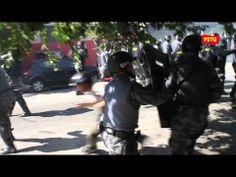 Protesto pacífico é reprimido pela PM no primeiro dia da Copa - 12/06/2014 (fonte: PSTU)