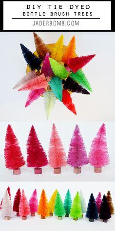 Rainbow Bottle Brush Trees
