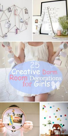 25 Creative Dorm Room Decorations for Girls!