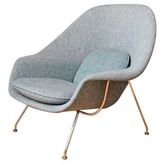Vintage Knoll Womb Chair by Eero Saarinen | From a unique collection of antique and modern lounge chairs at http://www.1stdibs.com/furniture/seating/lounge-chairs/