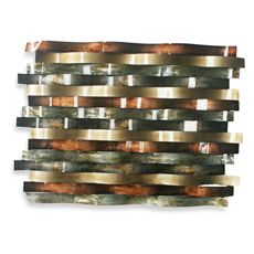 metal circle panel b wall art - bed bath & beyond | decor