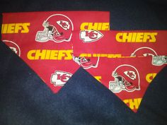 Kansas City Chiefs Dog Bandanas by DogGoneGoodBandanas on Etsy, $7.00