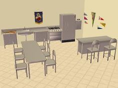 Mod The Sims - Cafeteria Recolours