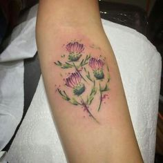 Image result for IRISH SHAMROCK AND SCOTTISH THISTLE TATTOOS FOR WOMEN