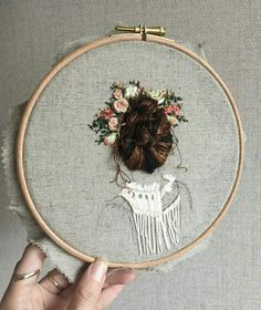 Wonderful Ribbon Embroidery Flowers by Hand Ideas. Enchanting Ribbon Embroidery Flowers by Hand Ideas. Silk Ribbon Embroidery, Embroidery Hoop Art, Hand Embroidery Patterns, Cross Stitch Embroidery, Thread Painting, Needlework, Creations, Artsy, Bedroom Wall