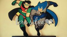 Batman&robin Batman Robin, Sonic The Hedgehog, Fictional Characters, Art, Gotham City, Felt, Kunst, Fantasy Characters, Art Education