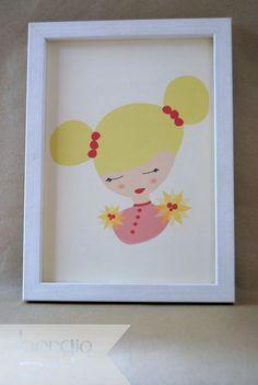 """Martha, de la colección """"Camafeo"""" Disponible en: http://www.borgio.es/laminas-infantiles/"""