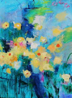 Daffodil Garden Kerri Blackman https://www.etsy.com/listing/194204981/acrylic-large-abstract-painting-yellow?ref=shop_home_active_1